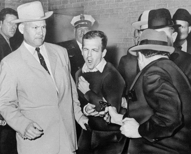 "James Robert ""Jim"" Leavelle, Lee Harvey Oswald and Jack Ruby, Dallas City Jail, November 24, 1963"