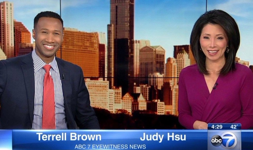 Terrell Brown and Judy Hsu