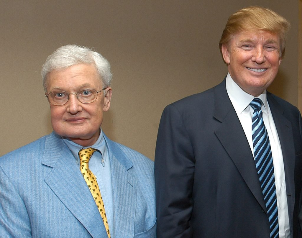 Roger Ebert and Donald Trump in 2004 (Photo: Jamie McCarthy/Getty)