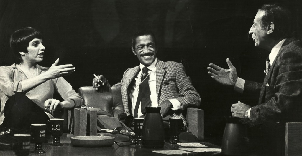 "Liza Minnelli, Sammy Davis Jr. and Irv Kupcinet on ""Kup's Show"""