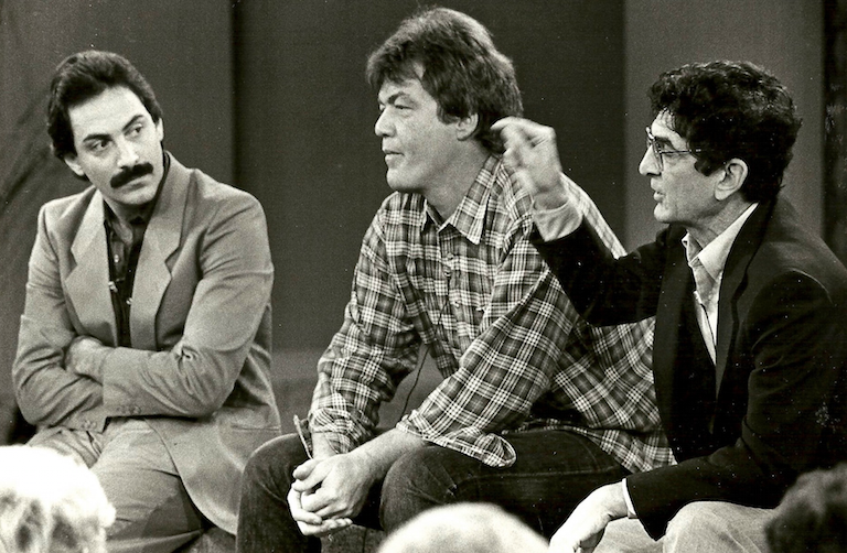 "With Jonathon Brandmeier and Dick Biondi on ""Donahue"" (1983)"