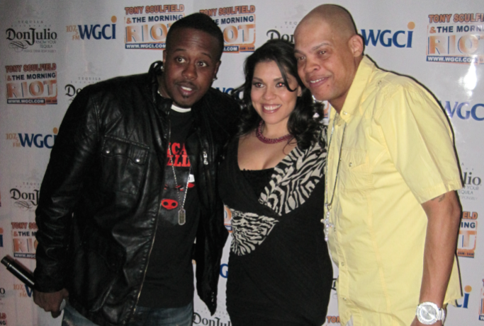 5. (tie) Tony Sculfield (right), Nina Chantele and Leon Rogers WGCI FM 107.5 (3.6 share)