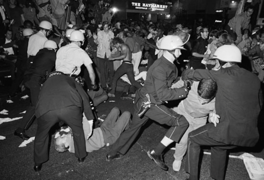 "6. ""The whole world is watching"" (August 28, 1968) The chant by anti-war protesters came true when network cameras captured Chicago police beating demonstrators and bystanders outside the Conrad Hilton Hotel during the 1968 Democratic National Convention."
