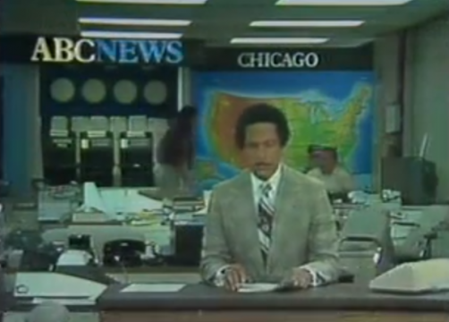 8. World News Tonight (July 10, 1978) Max Robinson became the first African-American to anchor a weeknight network news broadcast when ABC News installed him in Chicago as part of a triumvirate with Frank Reynolds in Washington and Peter Jennings in London.