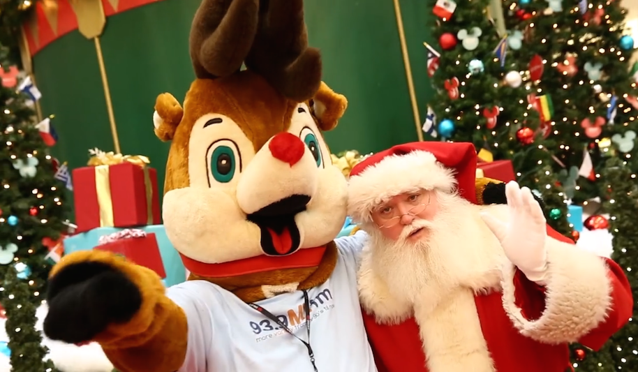 Edison the Reindeer and Santa Claus