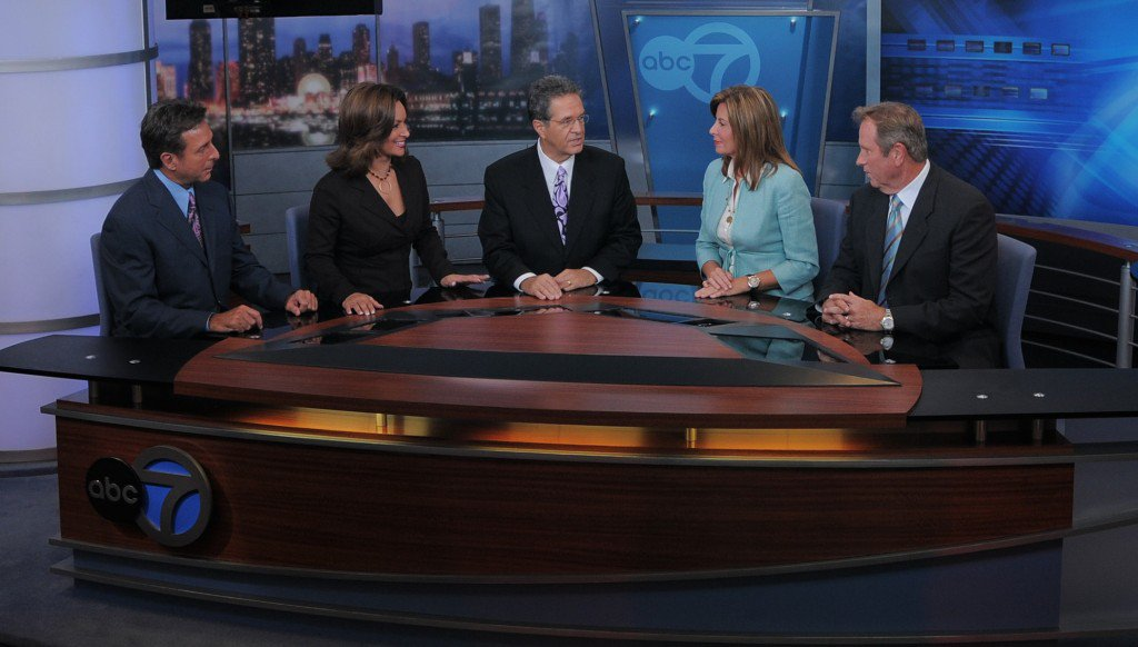 ABC 7's Mark Giangreco, Cheryl Burton, Ron Magers, Kathy Brock and Jerry Taft