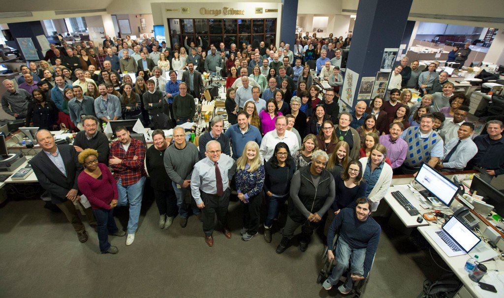 Chicago Tribune editorial staff (Photo: Michael Tercha)