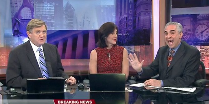 Steve Sanders, Dina Bair and Paul Lisnek (WGN, April 27, 2016)